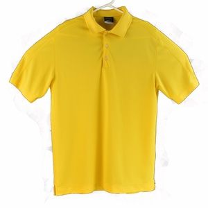 Nike Golf Mens Dri Fit Polo Medium Yellow S/S